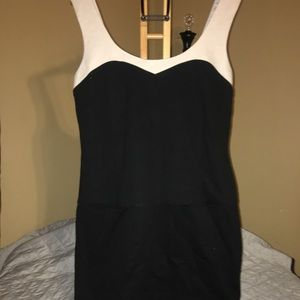 Trina Turk black and cream dress size 10
